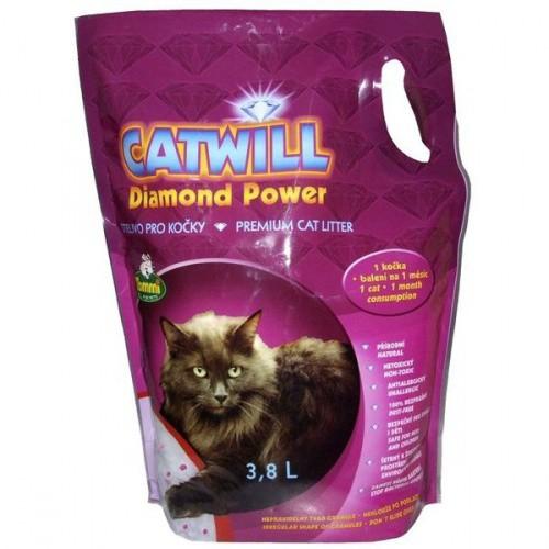Stelivo pro kočky silikagelové Catwill 3,8 l