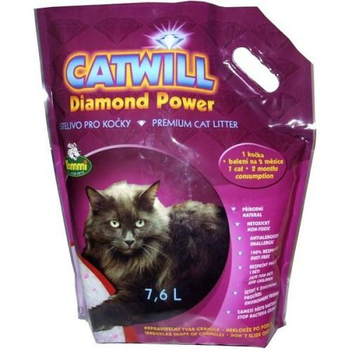 Stelivo pro kočky silikagelové Catwill 7,6 l