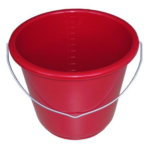 Kbelík GEWA, 12 l, červený