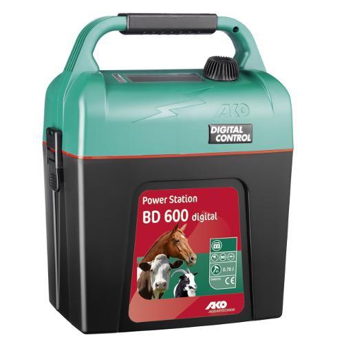 Elektrický ohradník bateriový Power Station BD 600 digital-určen pro koně, psy, malá zvířata