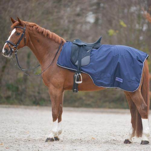 Nepromokavá bederní deka pro koně, FULL, modrá