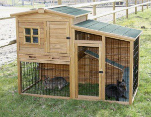 Kurník pro slepice FORTUNA - králikárna s výběhem