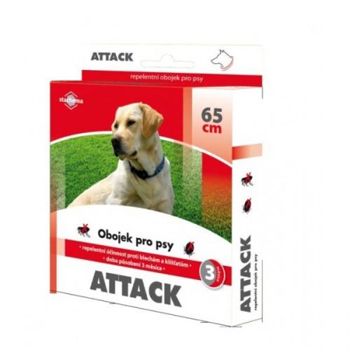 ATTACK antiparazitární obojek pro psy, 65cm
