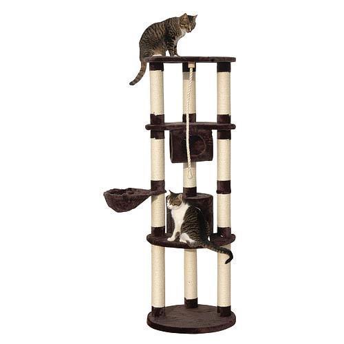 Škrabadlo pro kočky EMPIRE - kočičí domek, antracitová