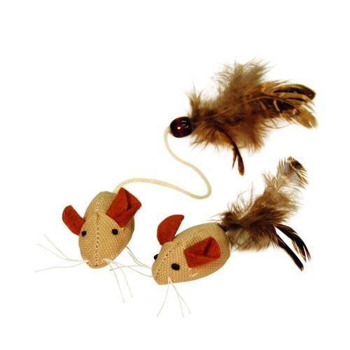 Hračka pro kočku - myš 2 ks