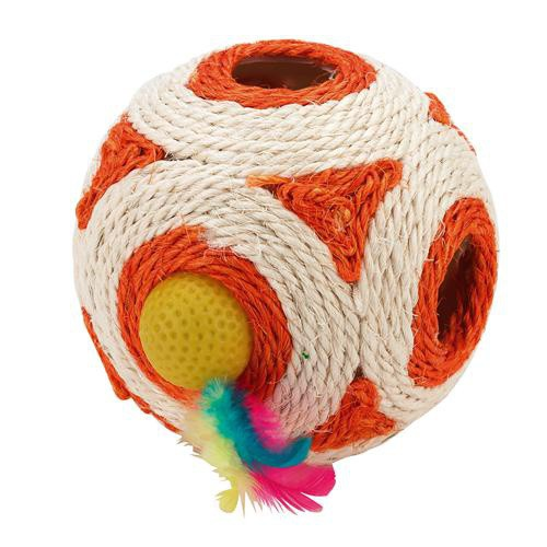 Hračka pro kočky - míč sisal 12 cm