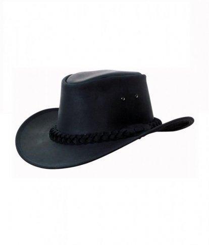 Westernový klobouk SCIPPIS Bushman kožený, černý