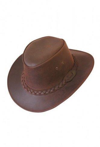 Westernový klobouk SCIPPIS Bushman kožený, hnědý