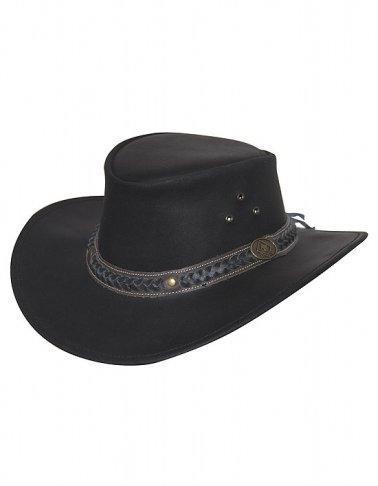 Westernový klobouk SCIPPIS Wilsons kožený, černý
