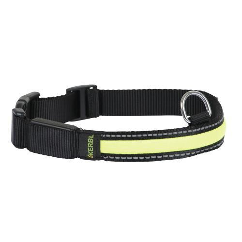 Obojek pro psa, reflexní světelný pruh, 34 - 41 cm