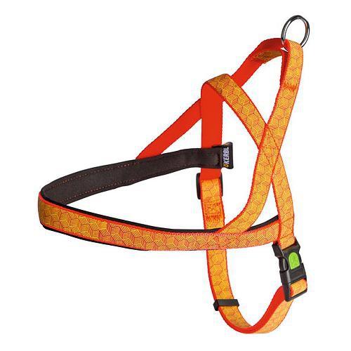Postroj na psa, reflexní, oranžový