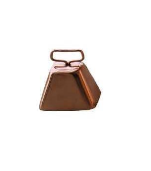 Zvonec ocelový v měděné barvě 50 mm