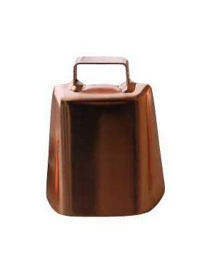 Zvonec ocelový v měděné barvě 90 mm