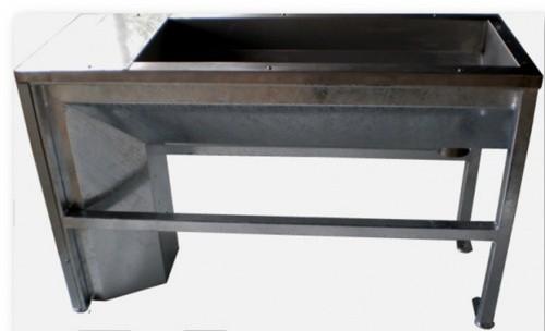 Žlab nerez vypouštěcí temperovaný, 50 x 200 cm