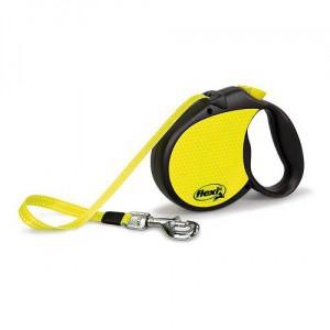 Vodítko Flexi L Neon, páska, 5 m, do 50 kg
