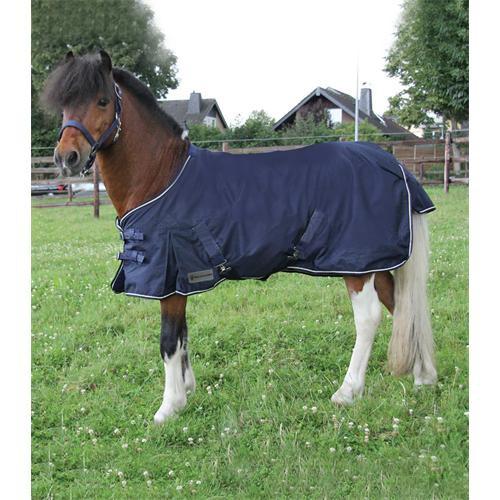 Deka nepromokavá pony, modrá