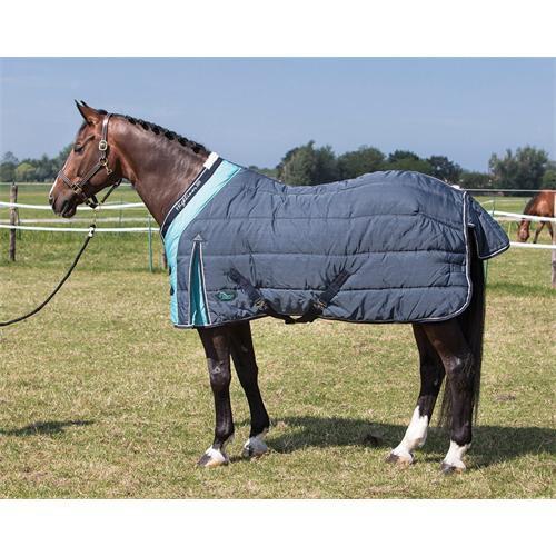 Stájová deka na koně 300gr., modro-tyrkysová
