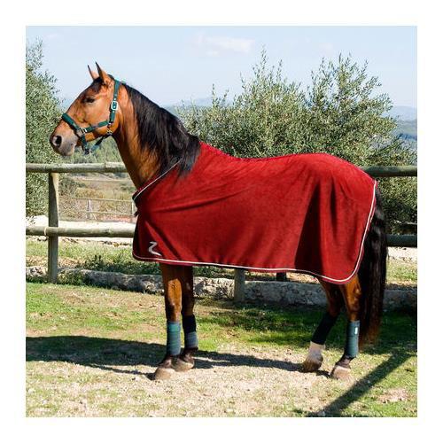 Odpocovací deka HORZE, červená