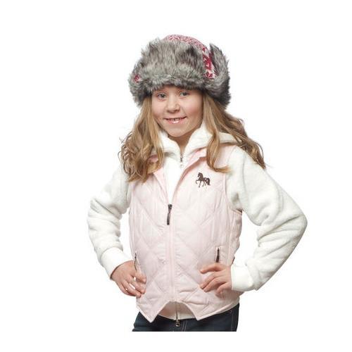 Dětská jezdecká vesta Horze, růžová