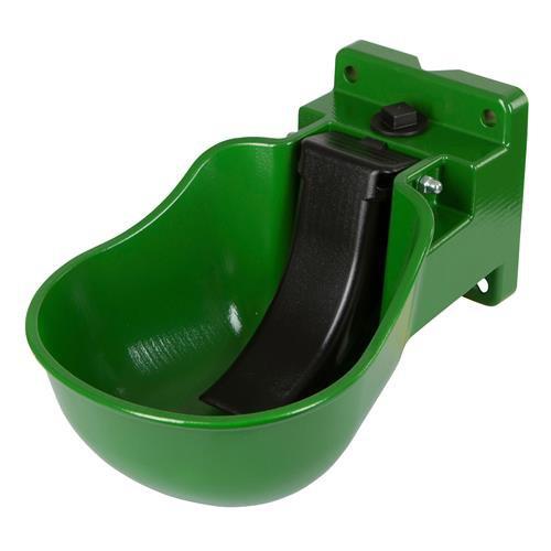 Napáječka misková Kerbl K50 plastová, zelená, mosazný ventil