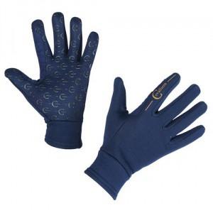 Jezdecké zimní rukavice Covalliero Inari, modré