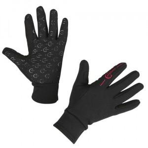 Jezdecké zimní rukavice Covalliero Inari, černé