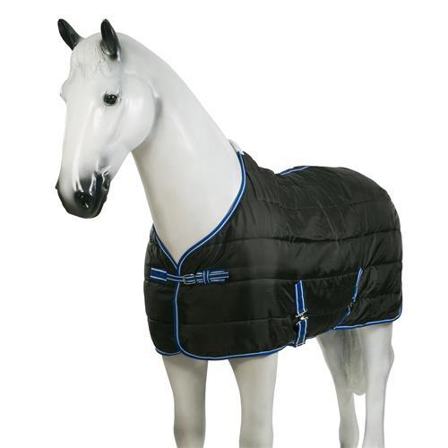 Stájová deka Horze, 200gr, černá s modrým lemem