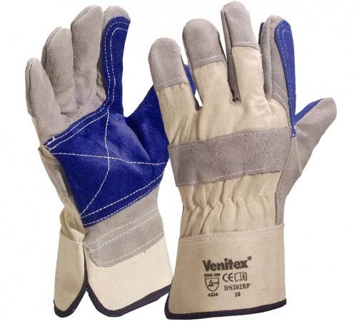 DS202RP rukavice hovězí štípenka/textil