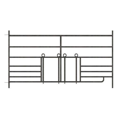 Panel pro ovce KERBL 0,92 x 1,8 m, pozinkovaný, s 2 průlezy pro jehně