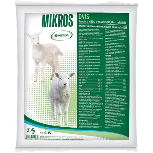 Mléčná náhražka pro jehňata MIKROS OVIS, 3 kg