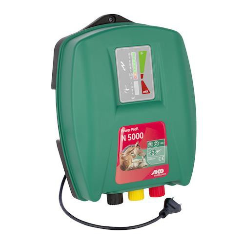 Elektrický ohradník POWER PROFI 5000, určen pro skot, ovce, koně a divokou zvěř