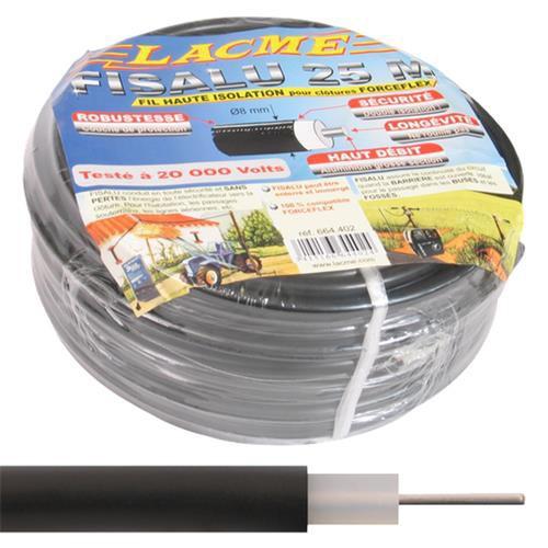 Vysokonapěťový kabel FISOL pro elektrické ohradníky - dvojitá izolace