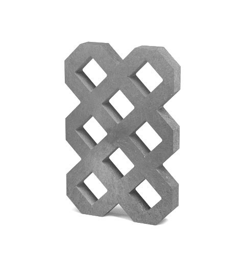 Zatravňovací dlažba VD600+, 60 × 40 × 6 cm, šedá