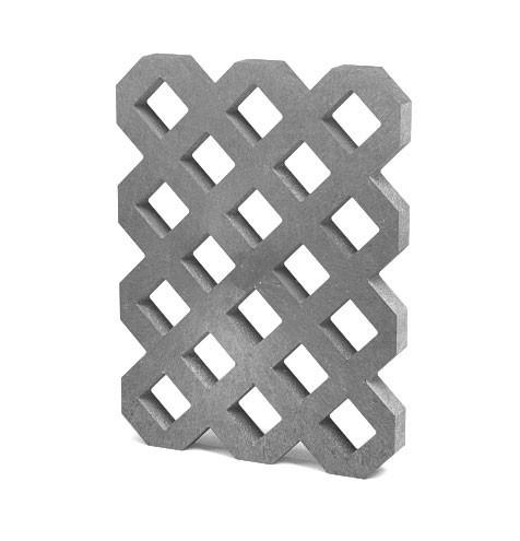 Zatravňovací dlažba VD800+, 80 × 60 × 6 cm, šedá