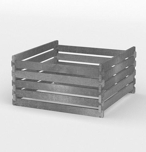 Kompostér 120 × 120 × 94 cm, šedá