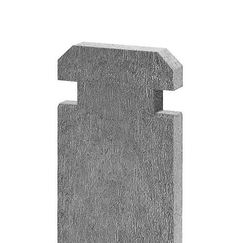 Prkno na kompostér 130 × 30 mm, délka 1,2 m, šedá