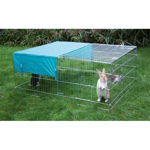 Výběh pro králíky, hlodavce a drůbež 144 x 112 x 60 cm, rovná střecha