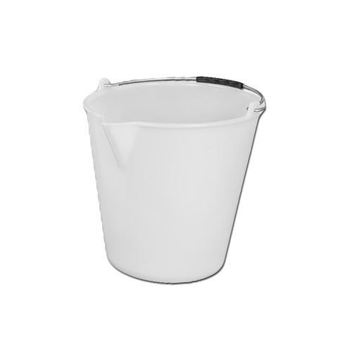 Kbelík plastový s výlevkou 9 l, bílý
