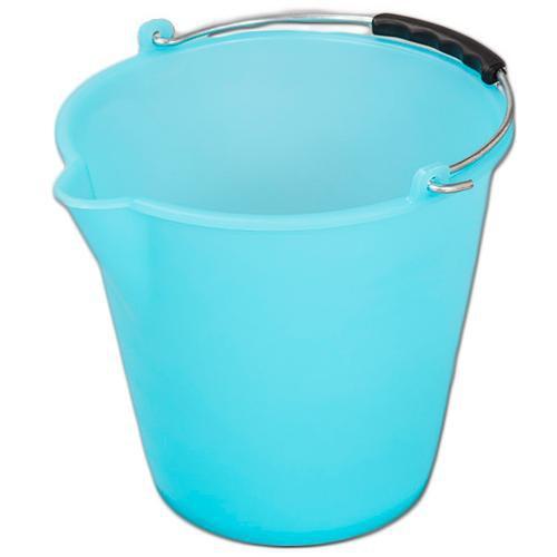 Kbelík plastový s výlevkou 9 l, modrý