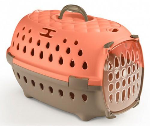 Přepravka pro psy, transportní box do auta Travel Chic, broskvová, 34,5 x 50 x 31,5 cm