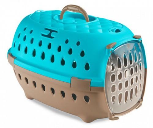 Přepravka pro psy, transportní box do auta Travel Chic, karibská modrá, 34,5x50x31,5cm