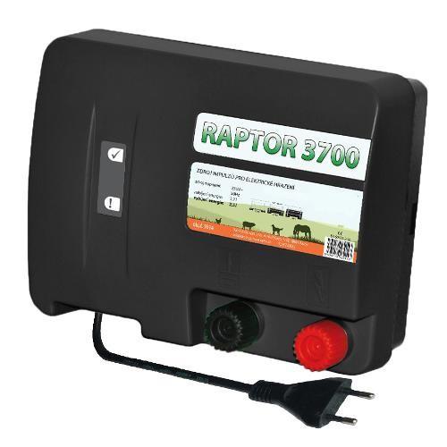 Zdroj pro elektrický ohradník RAPTOR 3700, síťový, 2,5 J