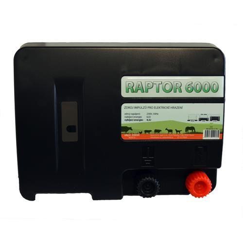 Zdroj pro elektrický ohradník RAPTOR 6000, síťový, 4,5 J