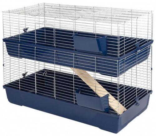 Klec MAXI BALDO TWIN 100 pro králíky a hlodavce, dvoupatrová