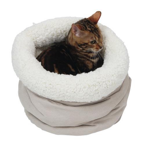 Pelíšek pro kočky s beránkem