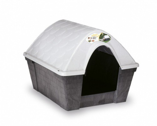 Bouda pro psa Happy Kennel Medium, plastová, šedá