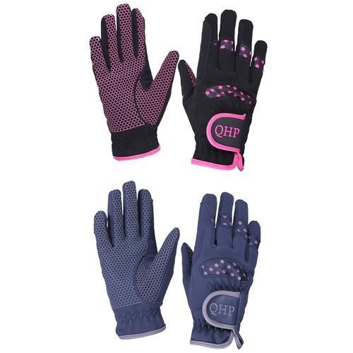 Dětské rukavice QHP Multi Star modré / růžové