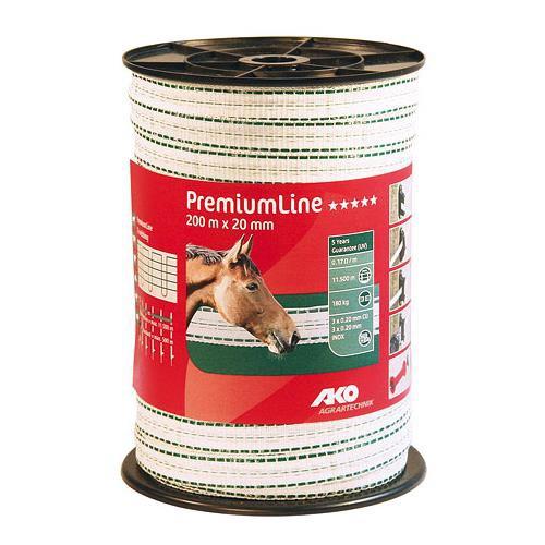 Polyetylenová páska pro elektrické ohradníky PremiumLine Q 20 mm
