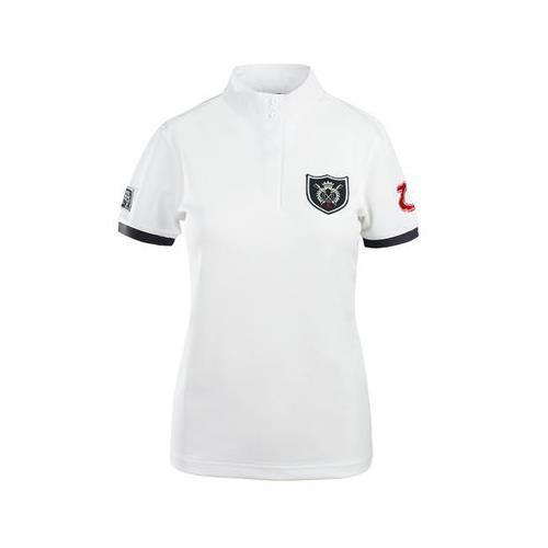 Dámské závodní triko Horze, bílé s erbem