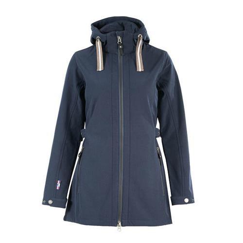 Dámský zimní softshellový kabát Horze Freya, modrý